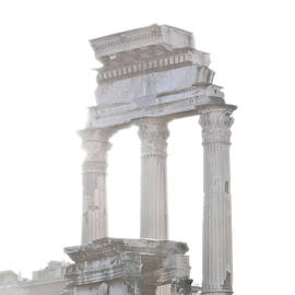 Andy Smy - WHITE COLUMNS temple of Castor and Pollux in the Forum Rome Italy