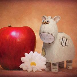 Tom Mc Nemar - White Horse with Apple