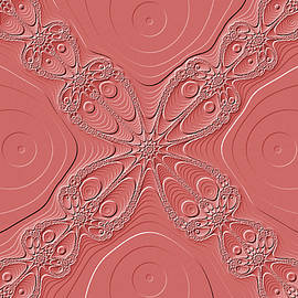 Mother Nature - White Lace on Pink Fractal