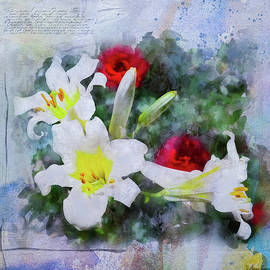 Anna Louise - White Lilies and Red Roses