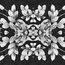 Delynn Addams - White on Black Rose Fabric