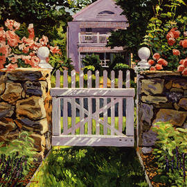 WHITE PICKET GATE - David Lloyd Glover