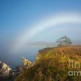 Jerry Cowart - White Rainbow Over Ocean Bluff