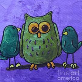 LimbBirds Whimsical Birds - WHOOO Said What?