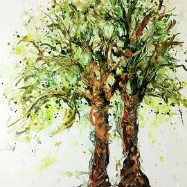 CheyAnne Sexton - Wild Cigar Trees watercolor