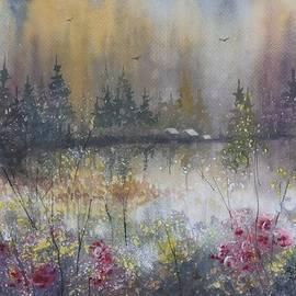 David K Myers - Wilderness Cabins, Original Watercolor