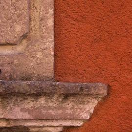 Windowsill and Orange Wall San Miguel de Allende - Carol Leigh