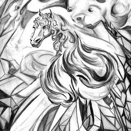 Janice Moore - Winged Crystalline Demon Horse