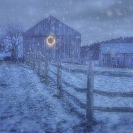 Joann Vitali - Winter Barn in Snow - Vermont