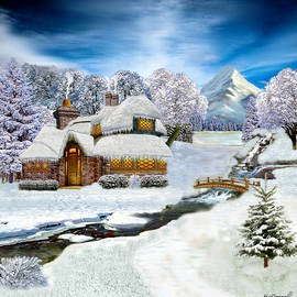 Glenn Holbrook - Winter Country Cottage