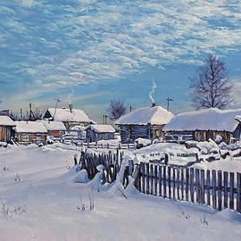 Alexander Volya - Winter day in village after snowfall