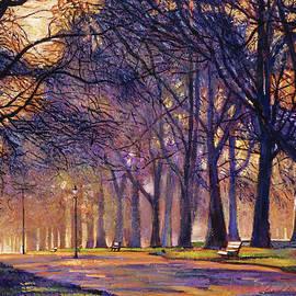 David Lloyd Glover -  Winter Evening In Central Park