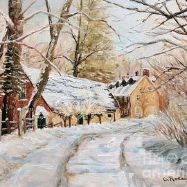 Cindy Roesinger - Winter Falls on the Phillips Mill