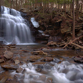 Gene Walls - Winter Ice Remains at Dutchman Falls