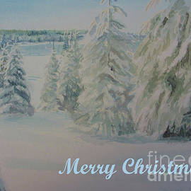 Winter In Gyllbergen Merry Christmas Blue Text