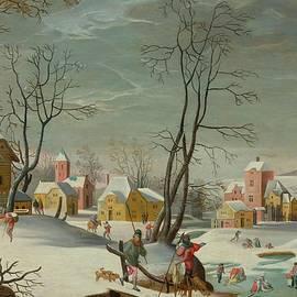MotionAge Designs - winter landscape of a village