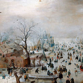 Celestial Images - Winter landscape with skaters