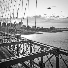 Doug Swanson - Winter Sky Over the Brooklyn Bridge