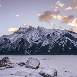 Yves Gagnon - Winter Sunrise Lake Minnewanka