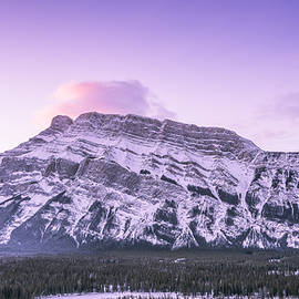 Yves Gagnon - Winter Sunrise Mt. Rundle Banff National Park Alberta