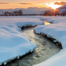 Johnny Adolphson - Winter sunset in rural Utah.
