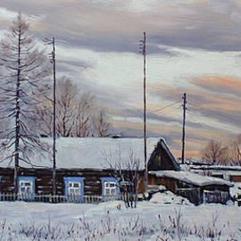 Alexander Volya - Winter twilight. Village