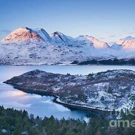 Justin Foulkes - Winter view of Beinn Alligin from across Loch Torridon