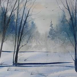 David K Myers - Winters Cold, Watercolor Painting