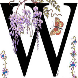 Stanza Widen - Wisteria and a Wanderer Butterfly