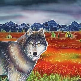 Harriet PeckTaylor - Wolf in the Autumn Tundra