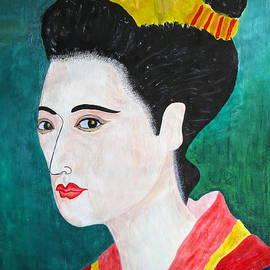 Taikan Nishimoto - Woman In Kyoto by Taikan