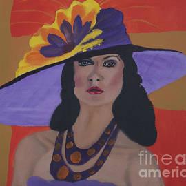 Kate Farrant - Woman in Purple Hat