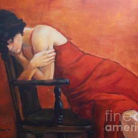 Johannes Strieder - Woman In Red Dress