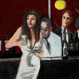 Harry WEISBURD - Woman IN White Dress Happy Hour