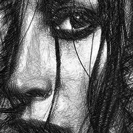Rafael Salazar - Woman Sketch in Black and White