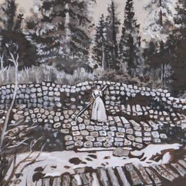 Dawn Senior-Trask - Woman Tie Hack historical vignette from River Mural
