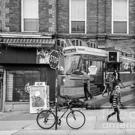 Dave Hood - Woman Walking Past Street Art