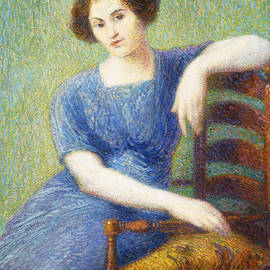 Woman with a Chair - Hippolyte Petitjean