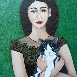 Madalena Lobao-Tello - Woman with cat soul