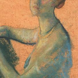 Woman with Orange Background - Arthur Bowen Davies