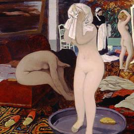 Women at their Toilet - Felix Edouard Vallotton