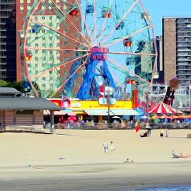 Ed Weidman - Wonder Wheel From Beach
