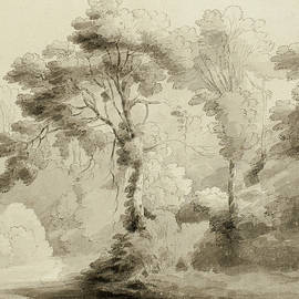 Wooded landscape - Francis Towne