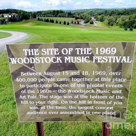 Ed Weidman - Woodstock Music Festival Site