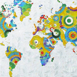 Stefano Senise - Abstract World Colorful Map