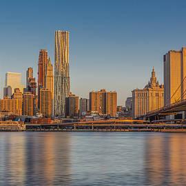 Susan Candelario - World Trade Center And The Brooklyn Bridge