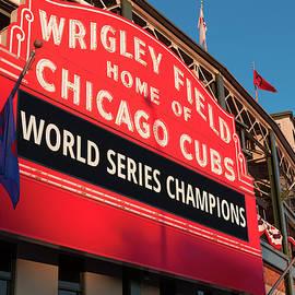 Steve Gadomski - Wrigley Field World Series Marquee Angle