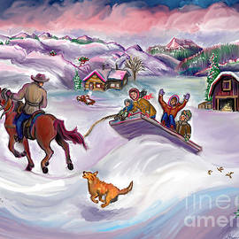 Dawn Senior-Trask - Wyoming Ranch Fun in the Snow