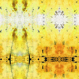Sharon Cummings - Yellow Abstract Art - Good Vibrations - By Sharon Cummings