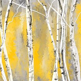 Lourry Legarde - Yellow and Gray Birch Trees